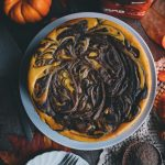 Chocolate Swirl Pumpkin Cheesecake