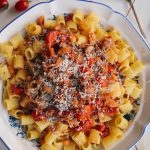 Mezzi Rigatoni with Bacon and Tomato