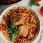 Chickpea Meatballs & Spicy Red Sauce