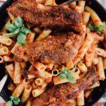 Italian Braised Pork Ribs and Pasta