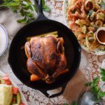 Roast Chicken and Tempura Vegetables
