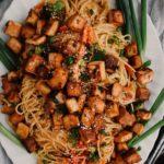 Honey Garlic Tofu & Noodles