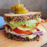BLT & Hard Boiled Egg Sandwich (low carb)